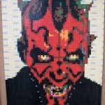 LEGO Darth Maul Portrait Mosaic by Duckingham Design