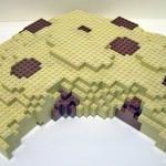 A LEGO Chocolate Chip Cookie Sculpture by Duckingham Design