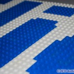 LEGO Mosaic Close-up of the Flickr logo by Duckingham Design
