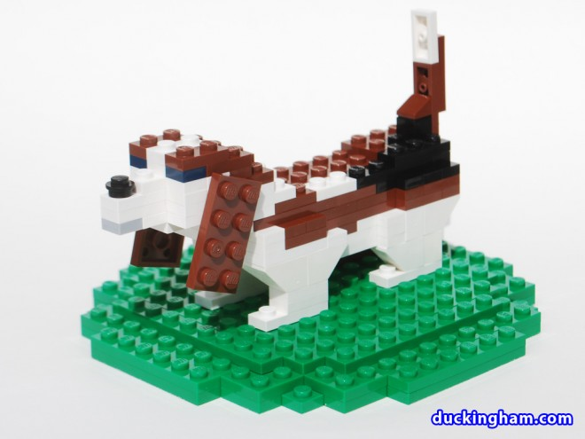 image of a LEGO Basset Cake Topper 3