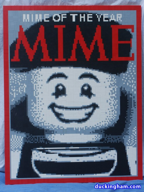 image of Mime Magazine Mime of the Year LEGO Mosaic by Duckingham Design