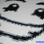 image of Close-up of the finished face of Mime Magazine