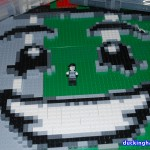 image of Mime Magazine LEGO Mosaic, work in Progress in Progress early February 2011