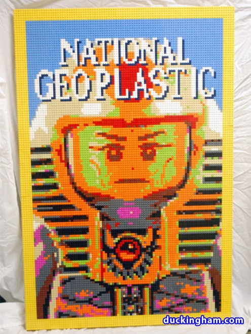 National Geoplastic, a LEGO Mosaic by Duckingham Design