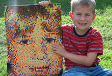 About LEGO Portraits from Duckingham Design